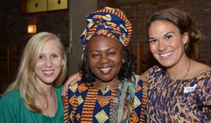 With the founder of the orphanage Josephine Ngale at a fundraiser in Edmonton. And the founder of Etisah Taryn Barry.